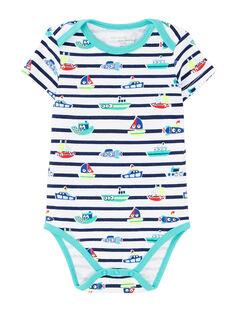 Body bébé garçon manches courtes rayé  JEGABODLEF / 20SH14V2BDL000