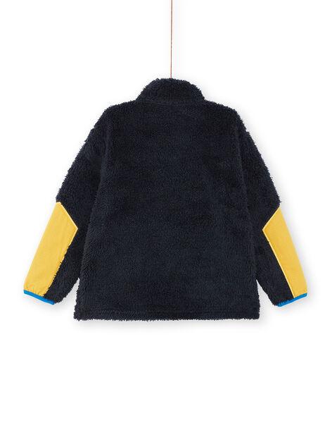 Sweat en sherpa marine enfant garçon KOSASWE / 20W902O1SWEC243