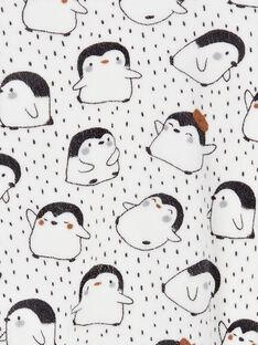 Grenouillère polo garçon en velours pingouin KOU2GRE3 / 20WF7722GRE001