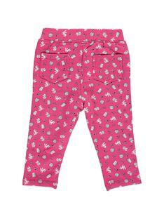 Pantalon en molleton bébé fille DIROUPAN2 / 18WG0922PAN099