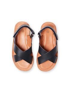 Sandales bleu marine enfant garçon LGSANDLEO / 21KK3658D0E070
