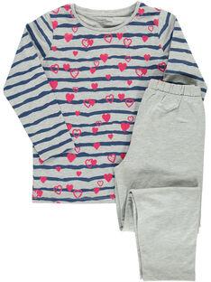 Pyjama en coton fille DEFAPYJLOV / 18WH11BEPYJ943