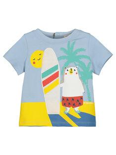 Tee Shirt Manches Courtes Bleu FUCUTI1 / 19SG10N1TMC213