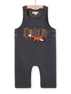 Salopette gris anthracite motifs renards fantaisie bébé garçon MUSAUSAL / 21WG10P1SAL944