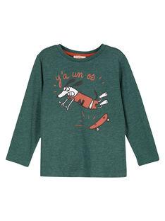 Tshirt Manches Longues Vert Foret GOJOTICHI3 / 19W902L6D32G620