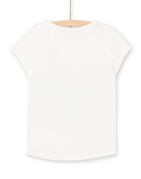 T-shirt écru manches courtes imprimé fleuri femme LAMUMTI1 / 21S993Z1TMC001