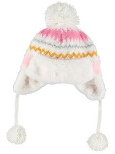 Bonnet avec pompoms  GYABLACHAP / 19WI01S1BON001