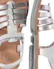 Sandale ville multi-brides en cuir fille FFSANDMIN1 / 19SK35C1D0E000