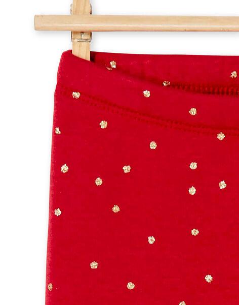 Legging fourré et imprimé petits pois en paillettes  KAJOLEG5 / 20W90145D2BF504