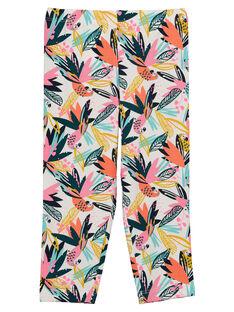 Legging imprimé tropical fille FYACULEG / 19SI01N1CAL000