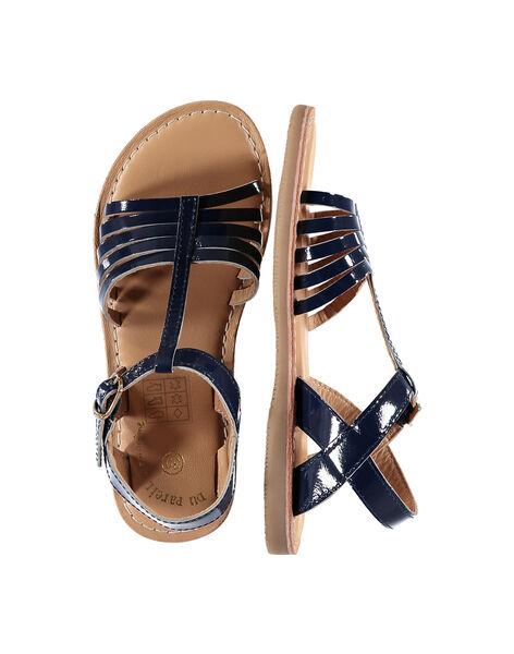 Sandale ville en cuir verni fille FFSANDOLI5 / 19SK35CAD0E070