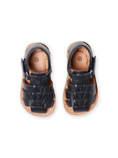 Sandales bleu marine bébé garçon LBGSANDENZO / 21KK3859D0E070