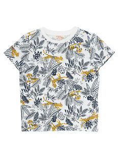 Tee shirt imprimé jungle garçon manches courtes JOTROTI1 / 20S902F1TMC001