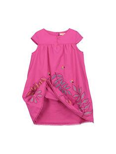 Robe en coton rose fille FATUROB2 / 19S901F5ROB712