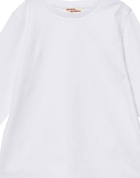 Tee shirt manches longues garçon blanc JOESTEE1 / 20S90262D32000