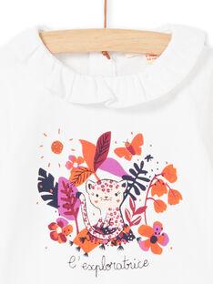 Body blanc et motif coloré bébé fille MIPABOD / 21WG09H2BOD001