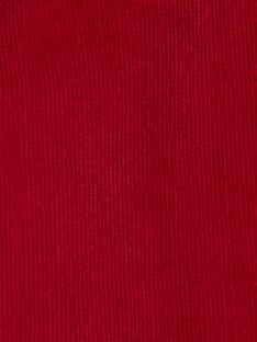 Pantalon bordeau en velours cotelé garçon KOJOPAVEL4 / 20W90254D2BF508