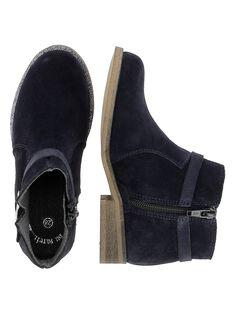 Boots en cuir fille DFBOOTREP / 18WK35T4D0D070