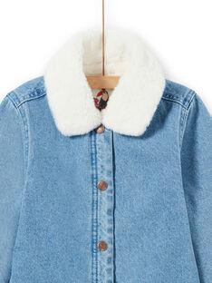 Veste en jean bleu enfant fille MAPAVESTE / 21W90151VESP274