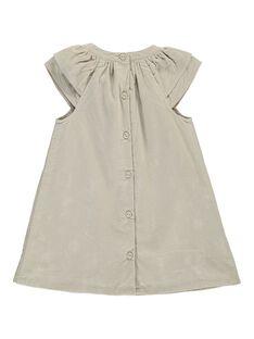 Robe en velours bébé fille DICHOROB3 / 18WG09F1ROB007