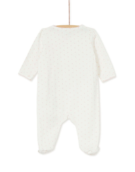 Grenouillère layette fille broderies animaux  KEFIGREMAUX / 20WH13I1GRE001