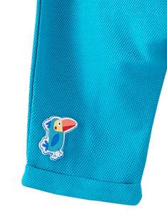 Pantalon uni bleu turquoise bébé garçon JUMARPAN / 20SG10P1PANC242