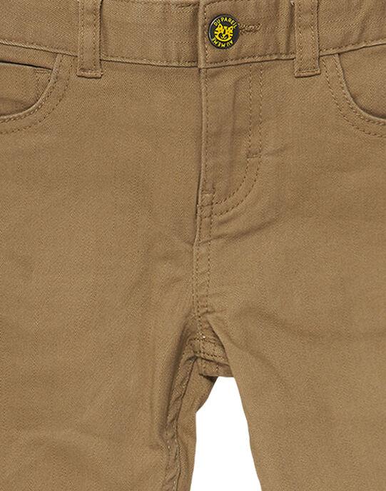 Pantalon garçon slim terre avec poche dos fantaisie JOTROPAN / 20S902F1PANI815