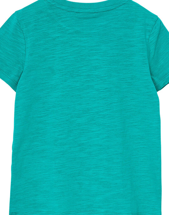 Tee shirt garçon manches courtes vert animaux JOJOTI3 / 20S90245D31G623