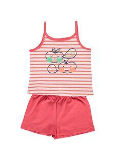 Pyjama en coton fille CEFAPYCPOM / 18SH1164PYJ099