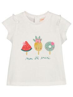Tee-shirt imprimé bébé fille FICUTI1 / 19SG09N1TMC000