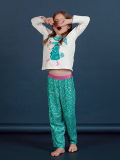 Ensemble pyjama motif fantaisie crocodile enfant fille MEFAPYJCRO / 21WH1182PYJ001