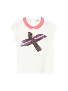 Tee-shirt col Claudine fille FAPOBRAS / 19S901C1BRA001