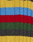 Pull torsade rayure multicolore KOLUPUL / 20W902P1PUL944