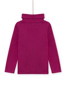 Sous-pull violet en twill motif fantaisie enfant fille MASKISOUP / 21W901R1SPLH704