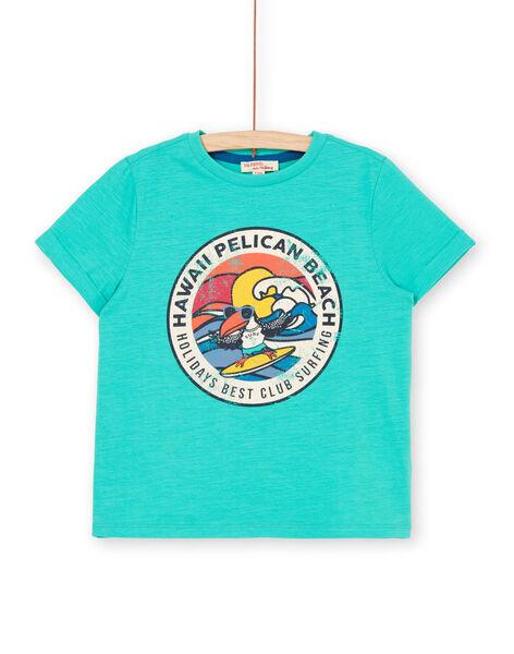 Tee Shirt Manches Courtes Vert LOBONTI6 / 21S902W1TMC600