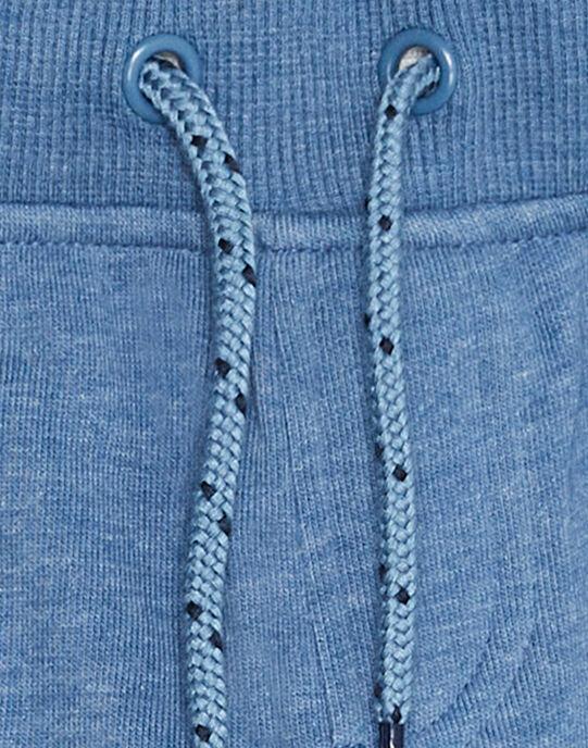 Bermuda molleton garçon basique bleu chine JOJOBER5EX / 20S90256D25C206