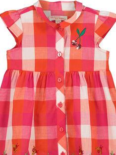 Robe à carreaux bébé fille FIYEROB4 / 19SG09M4ROB000