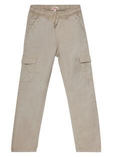 Pantalon maternel elastiqué avec poches cotés beige JOJOPAMAT4 / 20S90253D2B808