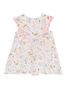 Robe imprimée bébé fille JIDUROB4 / 20SG09O4ROB001