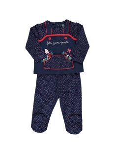 Pyjama en coton bébé fille CEFIPYJFLE / 18SH1351PYJ099
