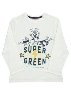 Tee-shirt manches longues Super Green garçon DOVETEE2 / 18W90272TML001