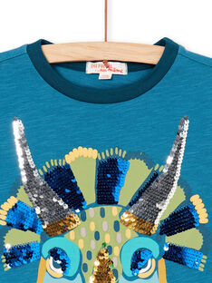 Tee Shirt Manches Courtes Bleu marine LOVERTI5 / 21S902Q3TMC715