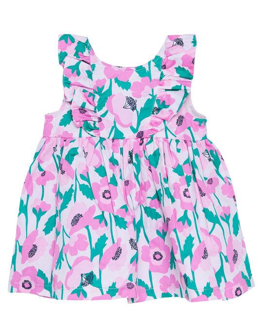 Robe imprimée bébé fille JIPOEROB2 / 20SG09G1ROB301