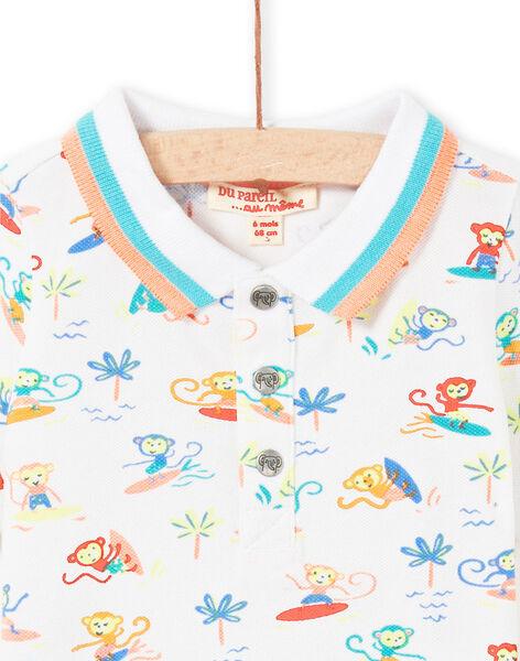 Polo blanc bébé garçon LUBONPOL / 21SG10W1POL000