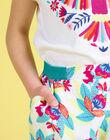 Pantalon fluide imprimé fleuri enfant fille JAMARPANT / 20S901P1PAN000