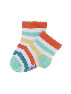 Chaussettes mi-hautes bébé garçon CYUJOCHO6B / 18SI10RBSOQ099