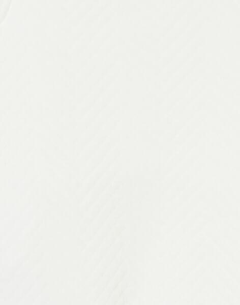 Salopette ecru en jersey matelassé KOU1SAL2 / 20WF0511SAL001