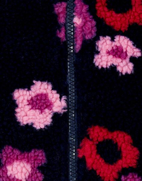 Teddy effet peau de mouton imprimé de fleurs KALUCAR1 / 20W901P1CARC205