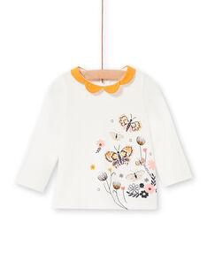 T-shirt manches longues motifs papillons bébé fille LIPOEBRA / 21SG09Y1BRA001
