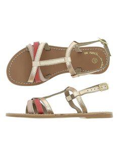 Sandale en cuir fille CFSANDLINE / 18SK35WCD0E030